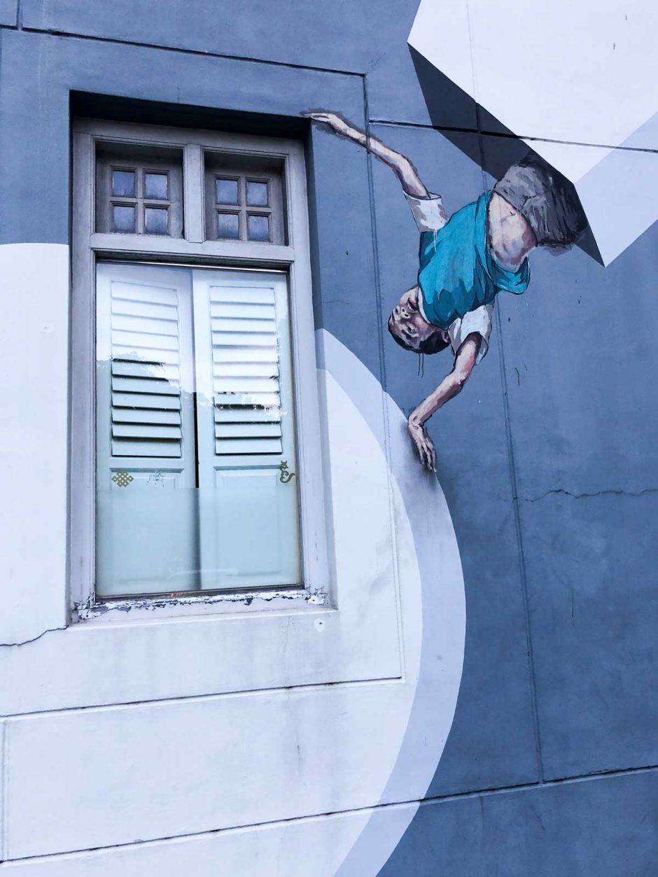 Victoria Street Singapore street art by Ernest Zacharevic