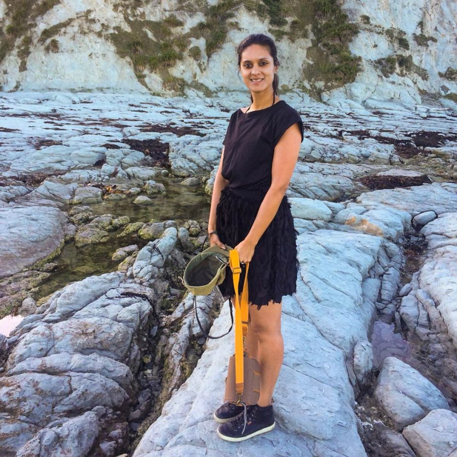 Standing on Kaikoura's raised seabed along the coastline