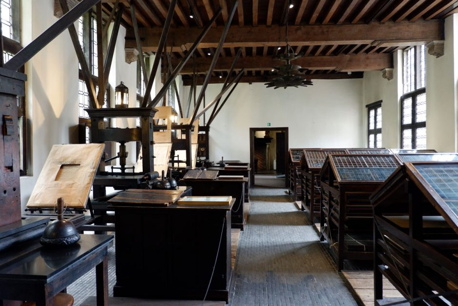 Plantin-Moretus museum Antwerp is a historical printing house