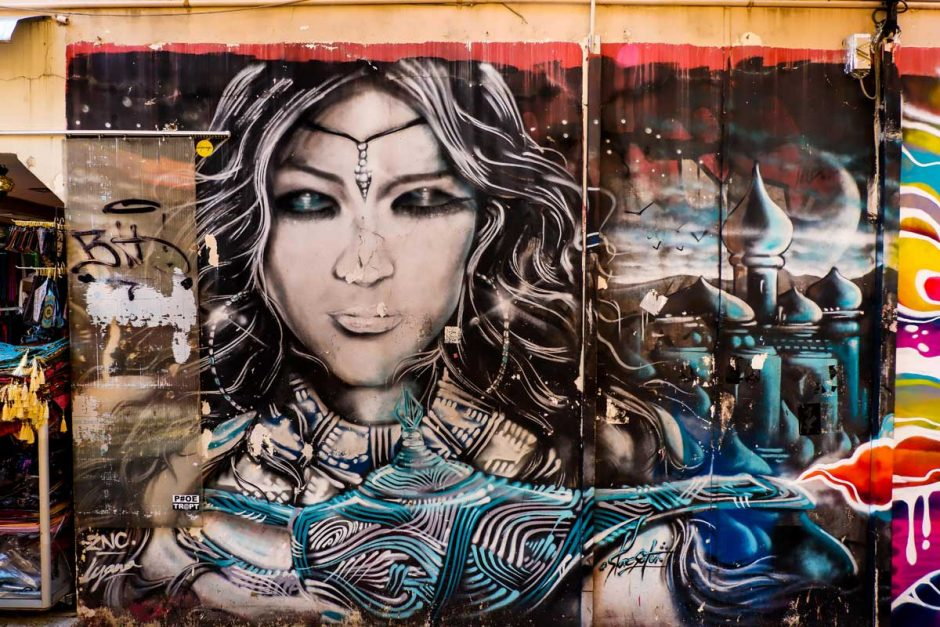 street art in Haji Lane Singapore by ZNC