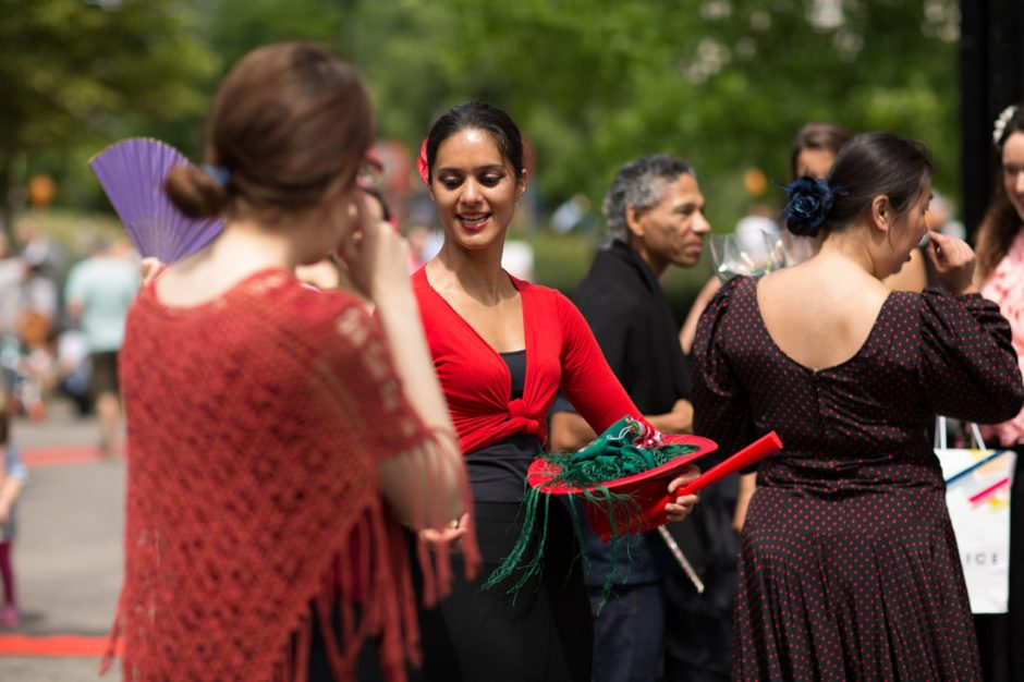Photo of me during a flamenco performance in a London park