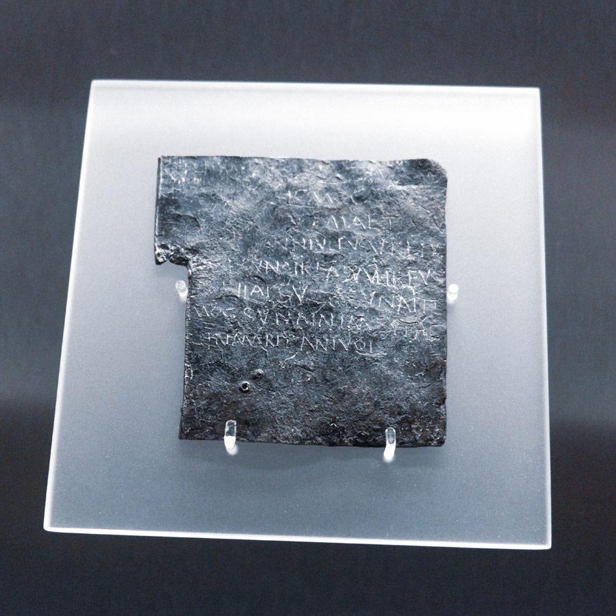 curse notes in the Roman Baths in Bath