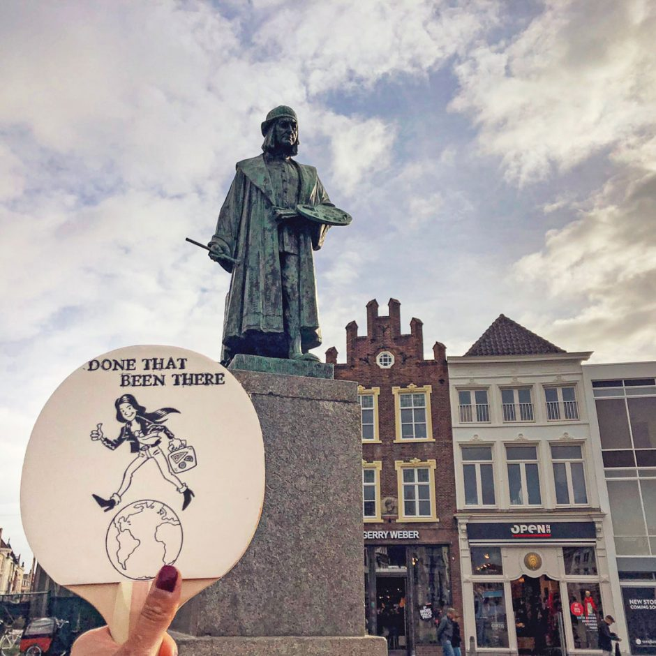 Statue of Hieronymus Bosch near the location of his home