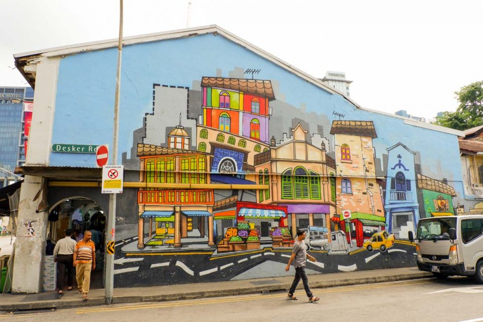 street art on Desker Road in Little India Singapore