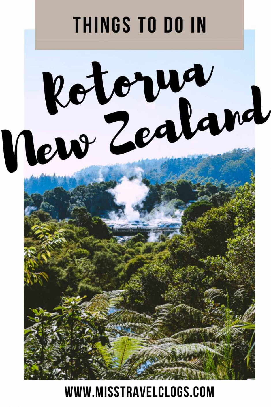 Pinterest image for pinning of Te Puia geothermal park