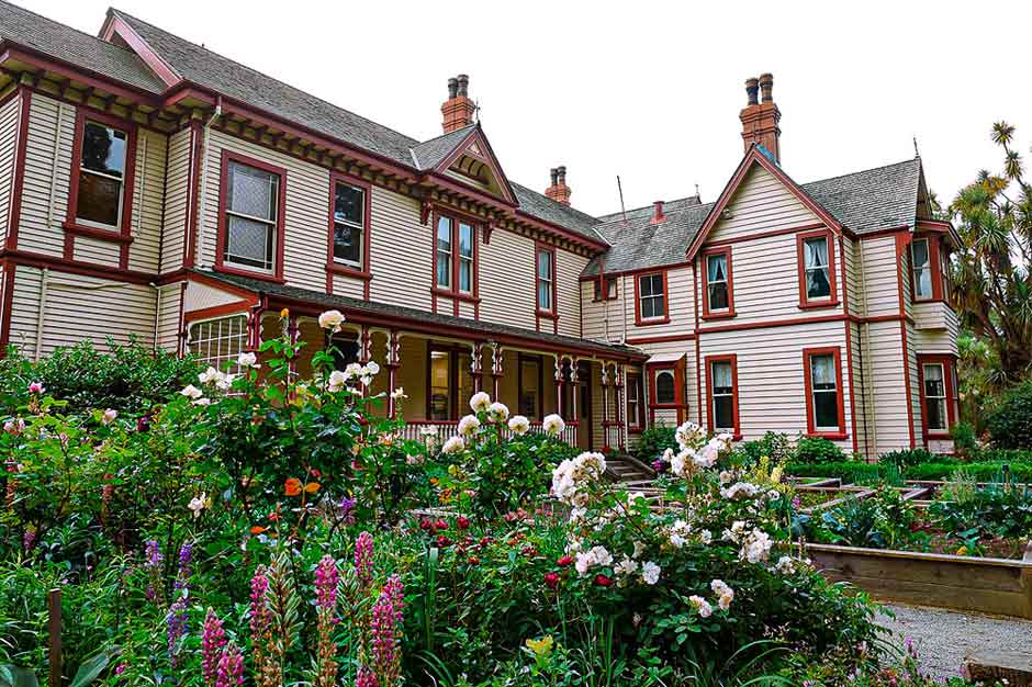 The historical Riccarton House in Canterbury, New Zealand