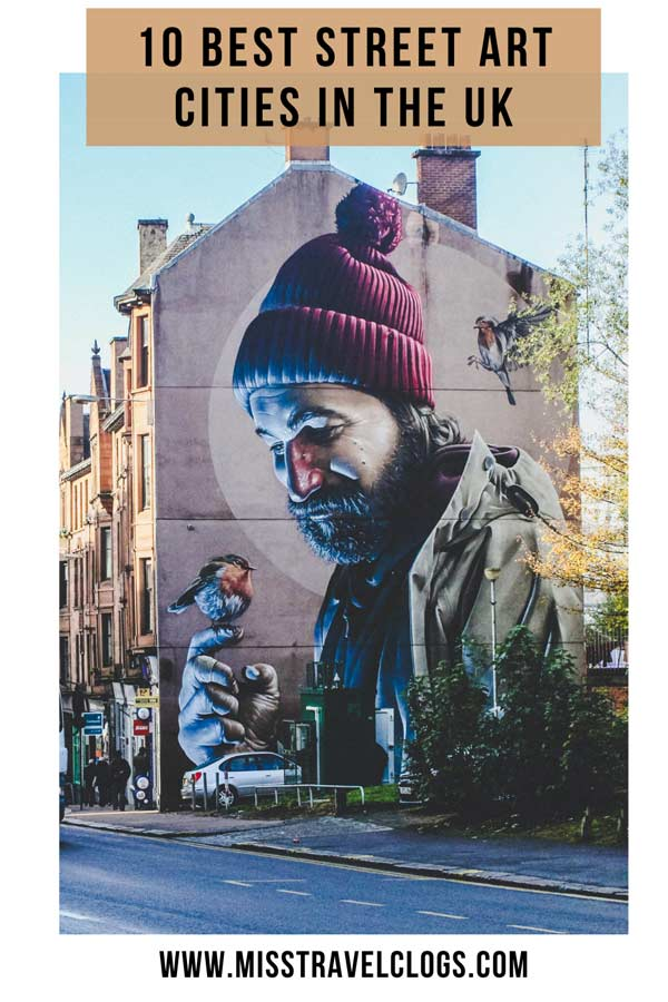 Pinterest image for pinning of a mural by Smug in Glasgow