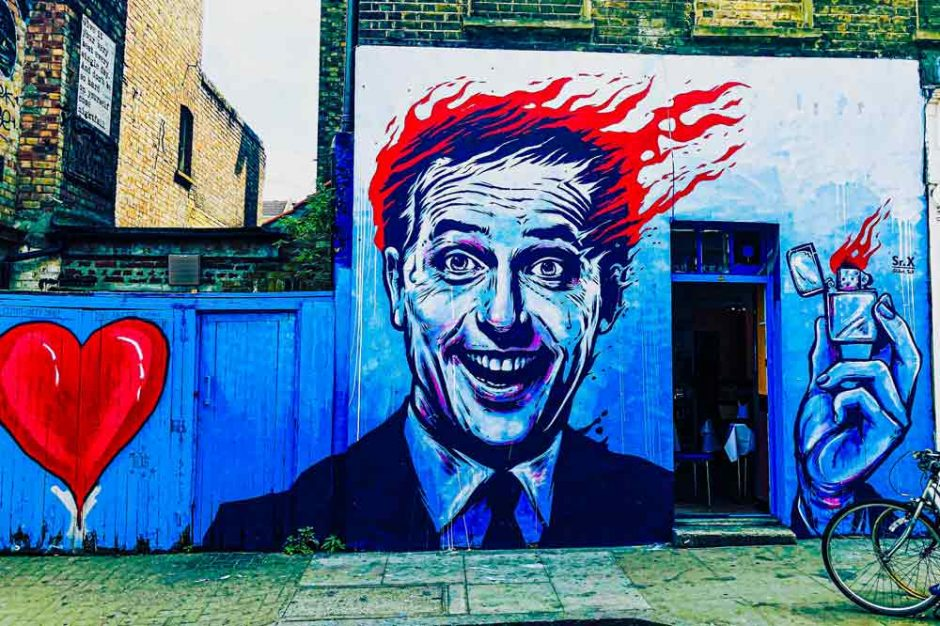street art in Shoreditch, London, by Sr.X