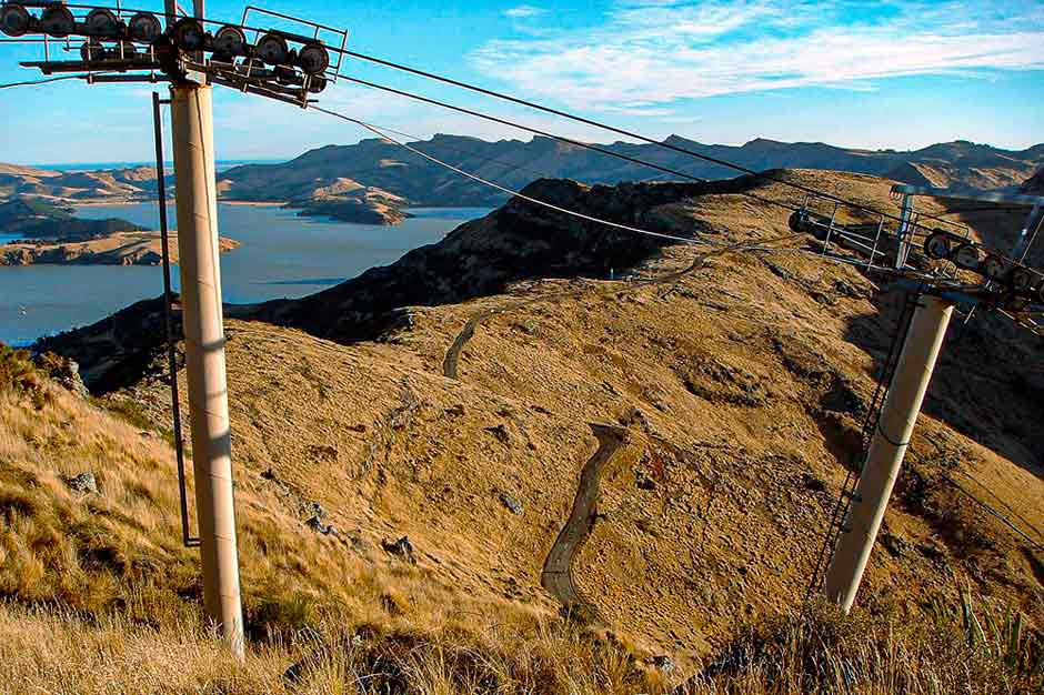 beautiful mountain and ocean views from the Christchurch gondola