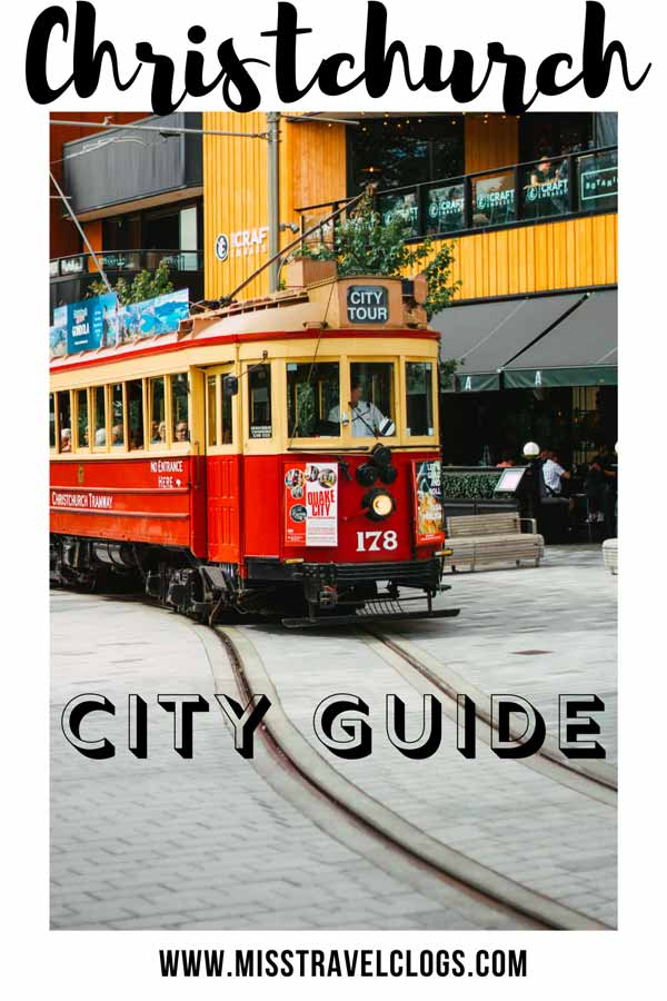 Pinterest image for pinning this Christchurch itinerary