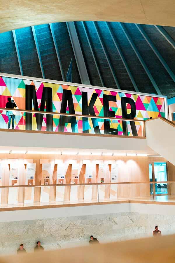 Interior of the Design Museum in London