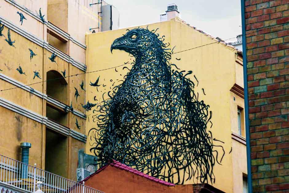 Dal East mural in Málaga, Spain