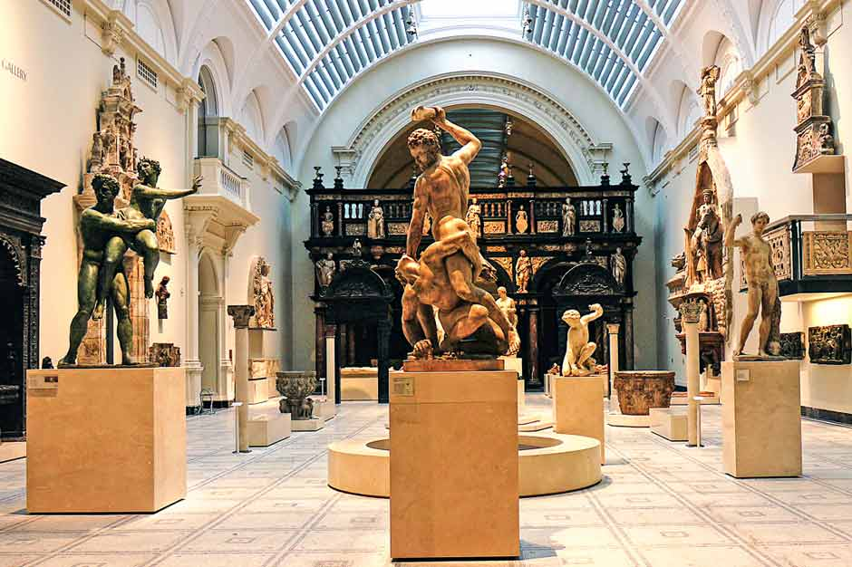 Greek sculptures in the Victoria and Albert Museum London