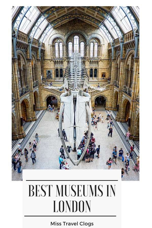 Pinterest image for pinning the best museums in London