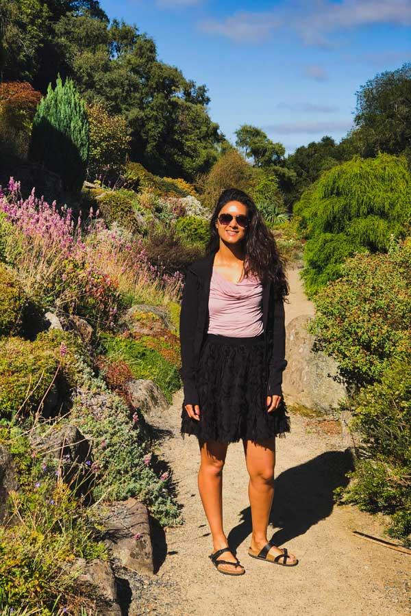 Zarina in the Dunedin Botanic Garden, New Zealand