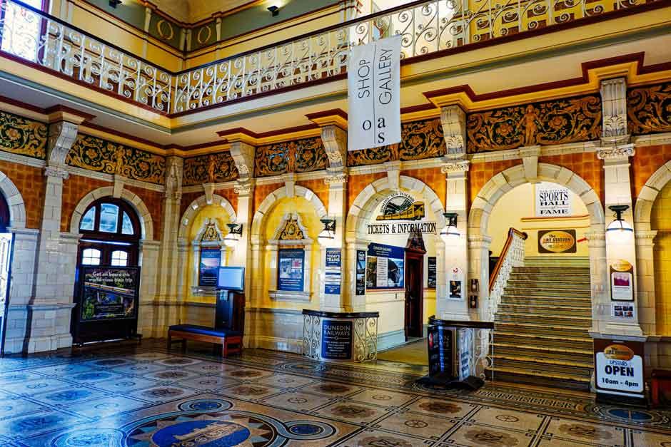 entrance hall of the Dunedin Railway Station