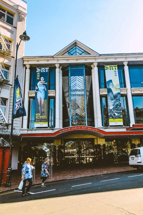 Exterior of the Dunedin Public Art Gallery, New Zealand