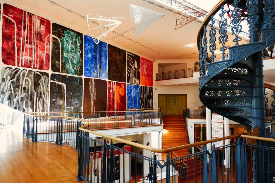 Interior of the Dunedin Public Art Gallery, New Zealand