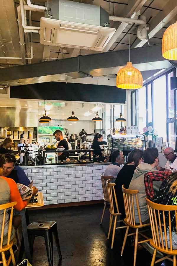 Interior of Market Kitchen café in Dunedin, New Zealand