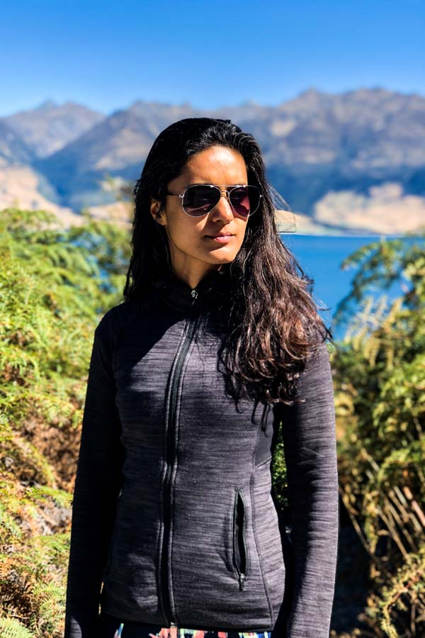 Zarina at a lookout point for Lake Wanaka on the South Island of New Zealand
