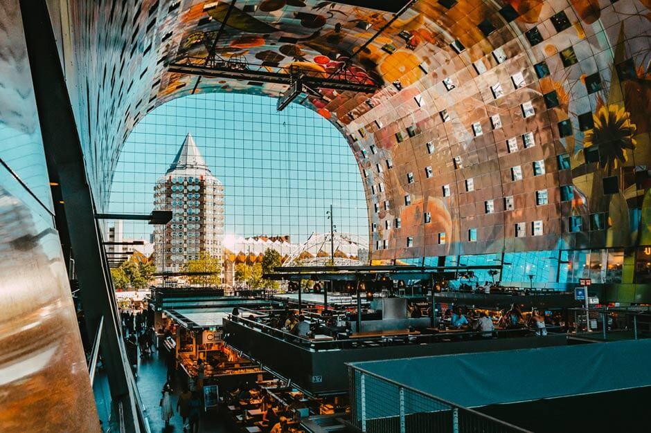 interior of the Markthal Rotterdam