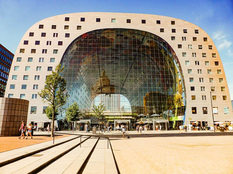 exterior of the Markthal Rotterdam