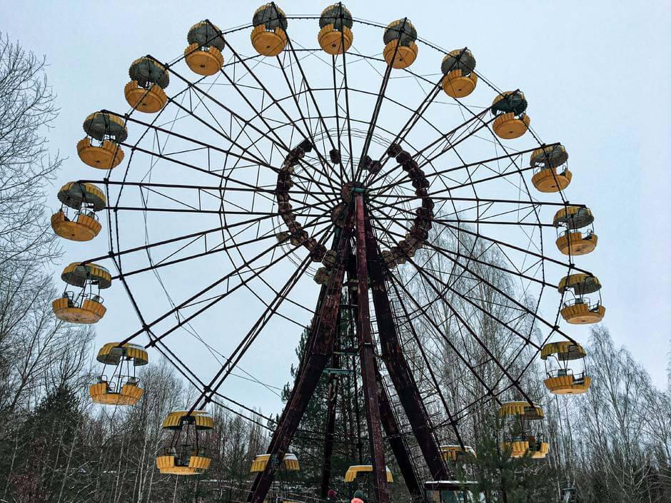 Ferris wheel in Pripyat amusement park in Ukraine
