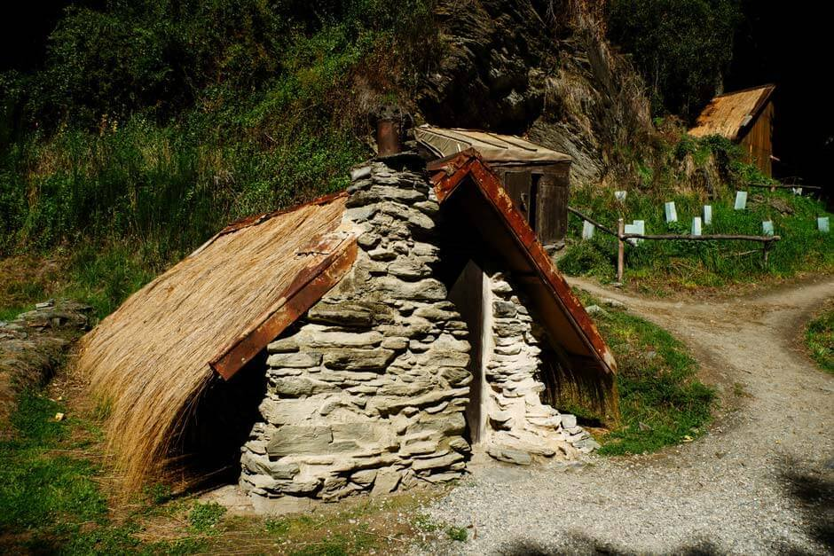 hut in the 19th-century Arrowtown Chinese settlement, New Zealand