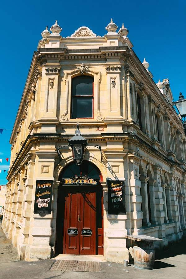 Criterion Hotel, located in a 19th-century stone building in Oamaru, New Zealand
